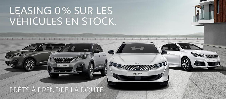 Leasings Peugeot à 0%